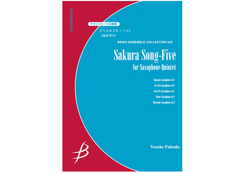 Sakura Song for Five for Saxophone Quintet