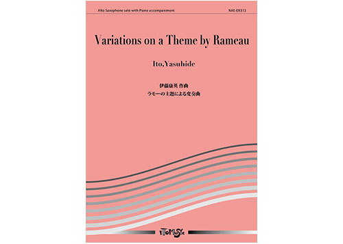 Variations on a Theme by Rameau for Alto Saxophone and Piano